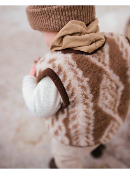 Alwero Kinder bodywarmer van wol pluche - aran