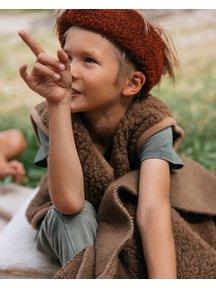Alwero Kinder hesje van wol pluche - bruin