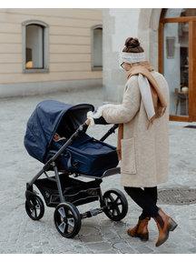 Naturkind Kinderwagen Lux dark blue - basis model inclusief reismand