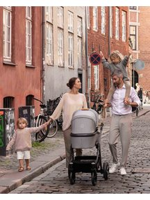 Naturkind Kinderwagen Lux mottled grey - basis model inclusief reiswieg
