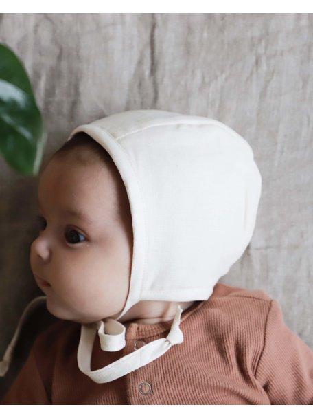 Briar Handmade Linnen bonnet - ivory
