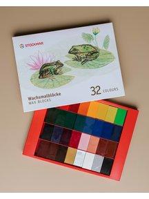 Stockmar Bijenwas krijtblokjes 32 stuks