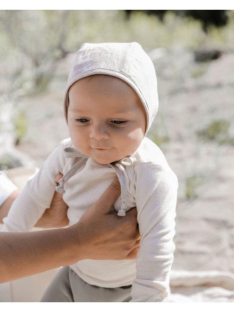 Briar Handmade Linnen bonnet - sand