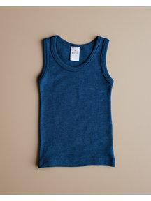 Hocosa Kind hemd wol/zijde - donkerblauw