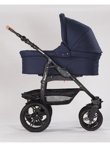 Naturkind Kinderwagen Varius Pro dark blue - basis model inclusief reiswieg