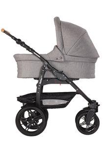 Naturkind Kinderwagen Varius Pro mottled grey - basis model inclusief reiswieg