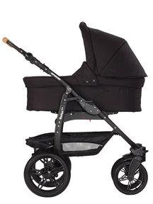 Naturkind Kinderwagen Varius Pro black - basis model inclusief reiswieg