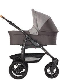 Naturkind Kinderwagen Varius Pro mottled/slate grey - basis model inclusief reiswieg