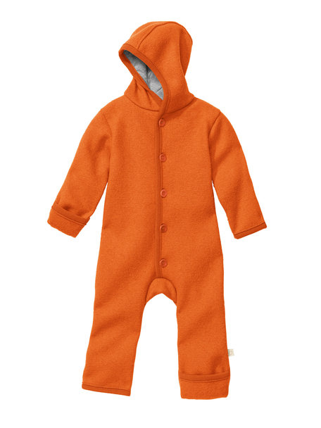 Disana Overall van gekookte wol - oranje