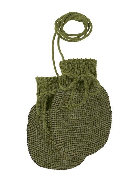 Disana Wantjes van merino wol - olive/antraciet