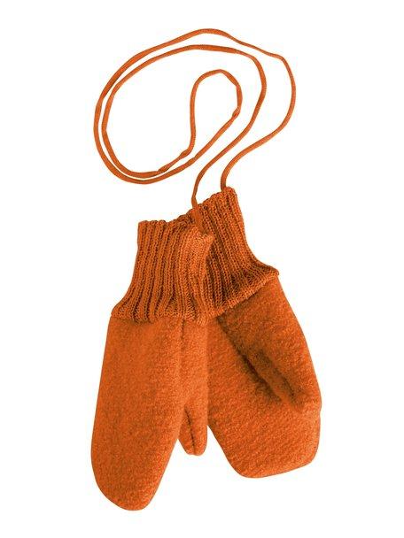 Disana Wanten van gekookte wol - oranje