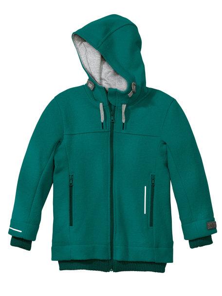 Disana Outdoor jas van gekookte wol - pacific