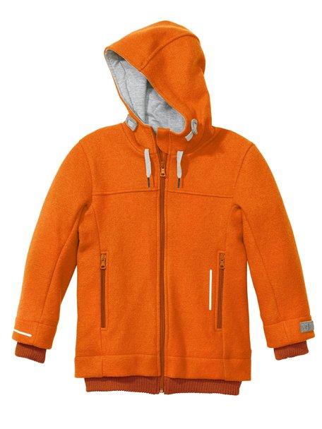 Disana Outdoor jas van gekookte wol - oranje