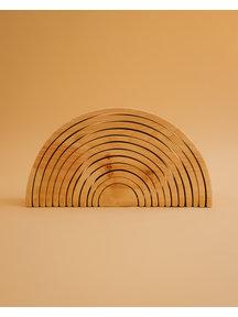 Spelenderwijs leren Grote houten regenboog 12-delig