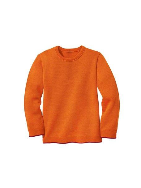 Disana Kindertrui van merino wol - oranje
