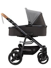 Naturkind Kinderwagen Lux Evo mottled/slate grey - basis model inclusief reiswieg