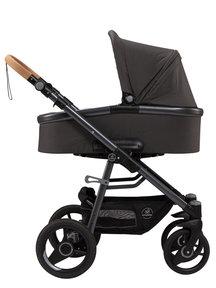Naturkind Kinderwagen Lux Evo slate grey - basis model inclusief reiswieg