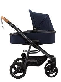 Naturkind Kinderwagen Lux Evo dark blue - basis model inclusief reiswieg