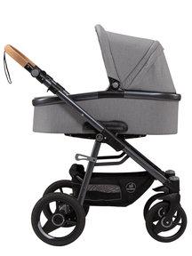 Naturkind Kinderwagen Lux Evo mottled grey - basis model inclusief reiswieg