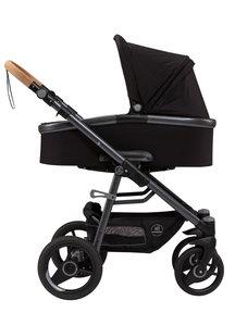 Naturkind Kinderwagen Lux Evo black - basis model inclusief reiswieg