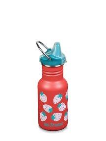 Klean Kanteen Kid Sippy fles 355 ml - aardbeien