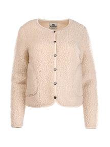 Alwero Dames vest met drukknopen van wol - beige