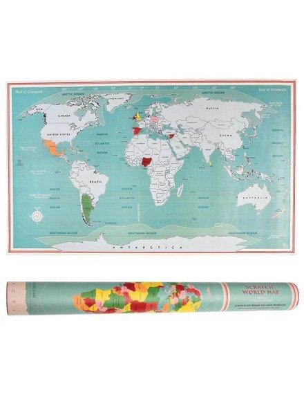 Scratch wereldkaart