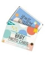 Baby photo cards - cotton candy