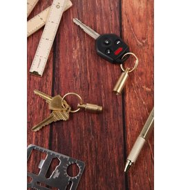 Kikkerland Everyday Carry Brass Keyrings - KR95-A