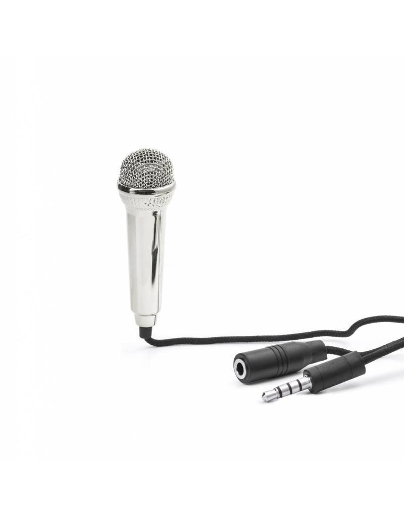 Kikkerland Mini Karaoke Microphone Silver - US133-EU