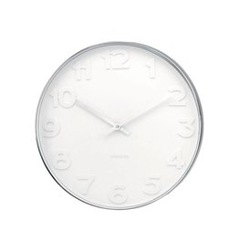 Karlsson Wall Clock Mr White Numbers - KA4383