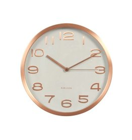 Karlsson Wall Clock Maxi Copper Numbers White - KA5578WH
