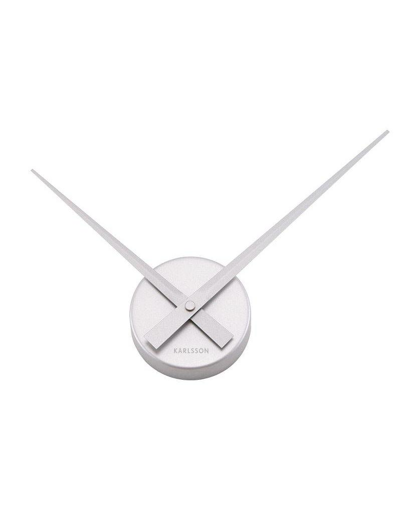 Karlsson Wall Clock Little Big Time Mini Alu Silver - KA4348SI