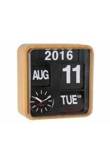 Karlsson Wall Clock Mini Flip Bamboo Printed Casing - KA5364WD