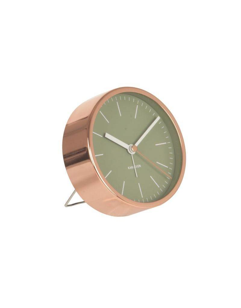 Karlsson Alarm Clock Minimal Jungle Green Copper Case - KA5536GR