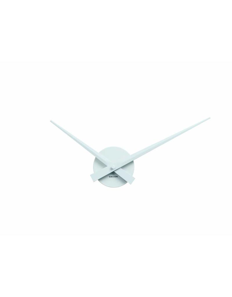Karlsson Wall Clock Little Big Time Mini Alu White - KA4348WH