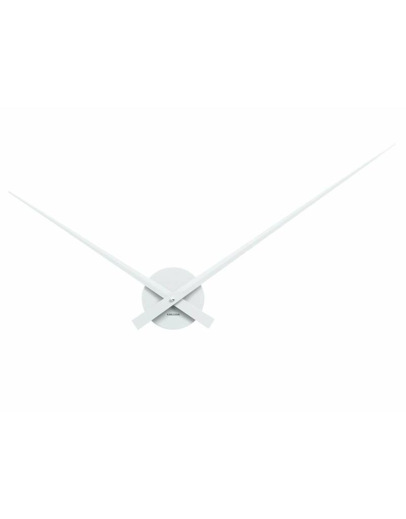Karlsson Wall Clock Little Big Time Alu White - KA5516WH