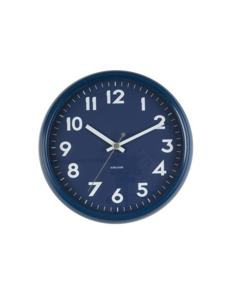 Karlsson Wall Clock Badge Metal Dark Blue - KA5610BL