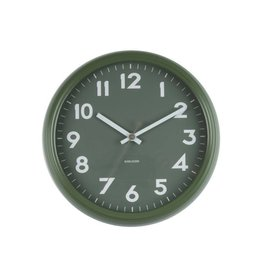 Karlsson Wall Clock Badge Metal Jungle Green - KA5610GR
