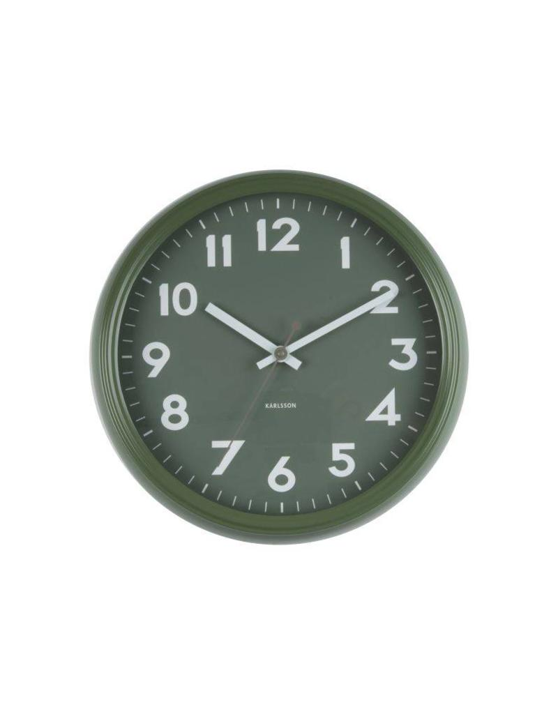 Karlsson Wall Clock Badge Metal Jungle Green - KA5610GR