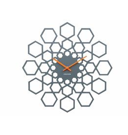 Karlsson Wall Clock Sunshine Hexagon Dark Grey - KA5639GY