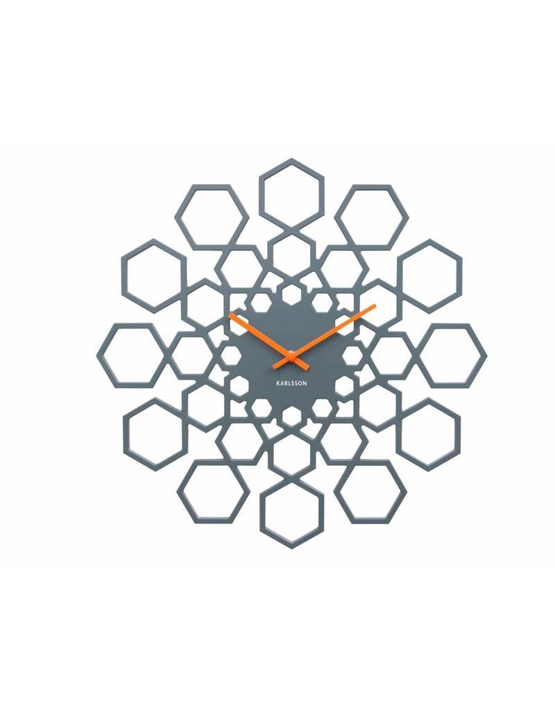 Karlsson Wall Clock Sunshine Hexagon Dark Grey - KA5639GY