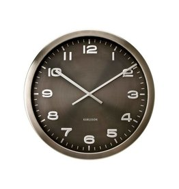 Karlsson Wall Clock Maxie Steel Polished Grey - KA4625