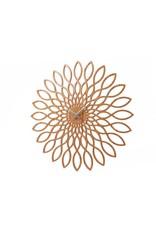 Karlsson Wall Clock Sunflower MDF Wood Finish - KA5394