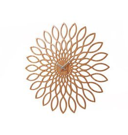 Karlsson Wall Clock Sunflower MDF Wood Finish - KA5394