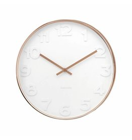 Karlsson Wall Clock Mr White Numbers Copper - KA5588