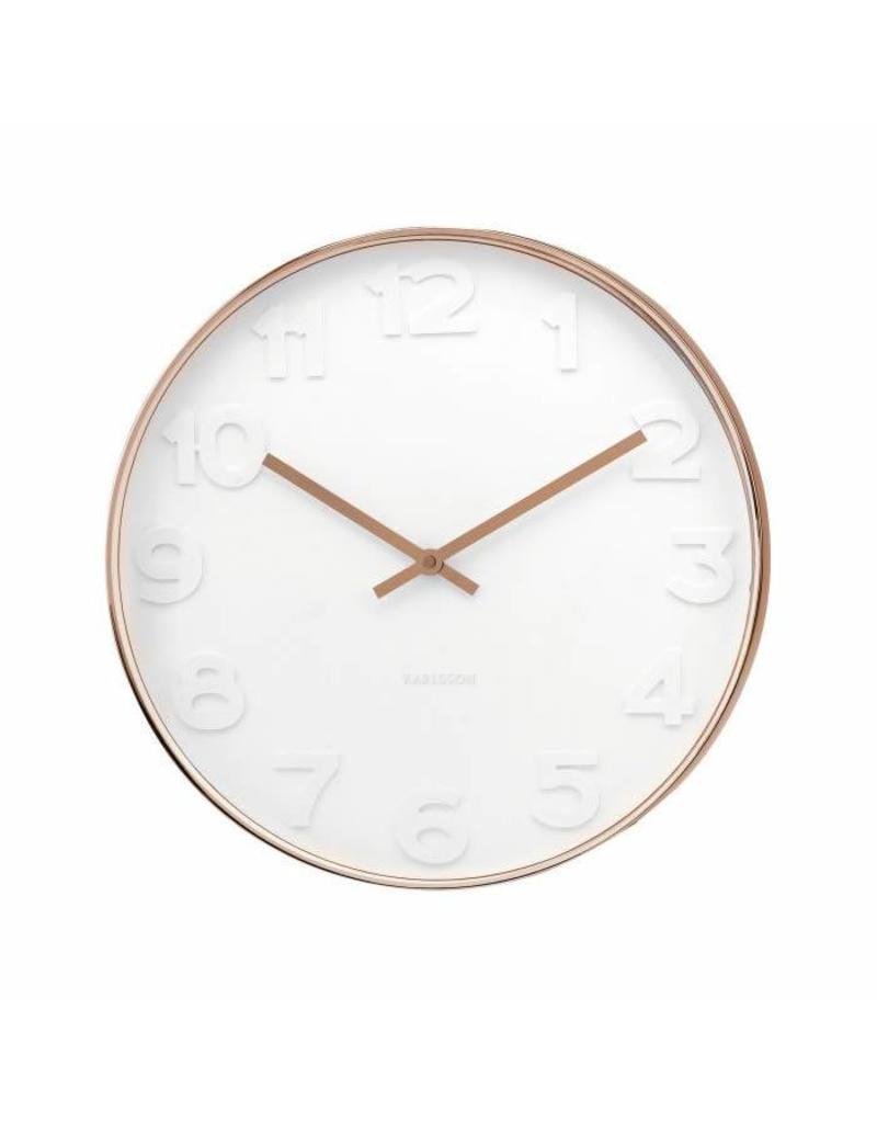 Karlsson Wall Clock Mr White Numbers Copper - KA5588