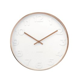 Karlsson Wall Clock Mr White Numbers Copper - KA5587