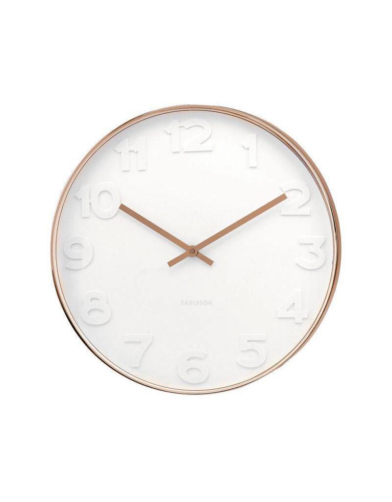 Karlsson Wall Clock Mr White Numbers Copper - KA5587