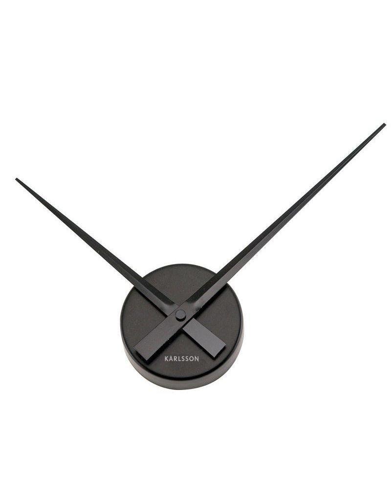 Karlsson Wall Clock Little Big Time Mini Alu Black - KA4348BK